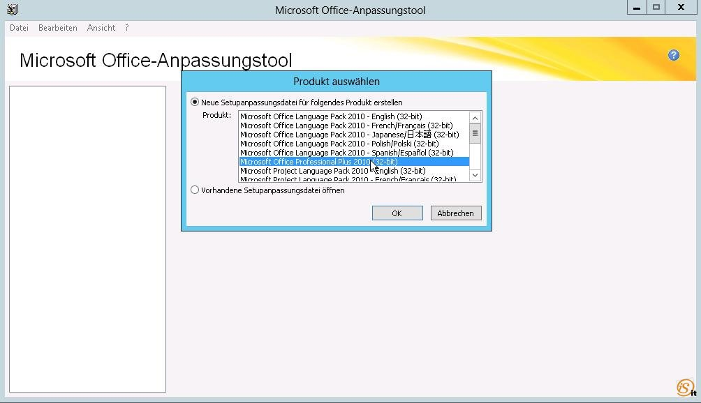 Deploying Office 2010 using SCCM 2012 with several language packs